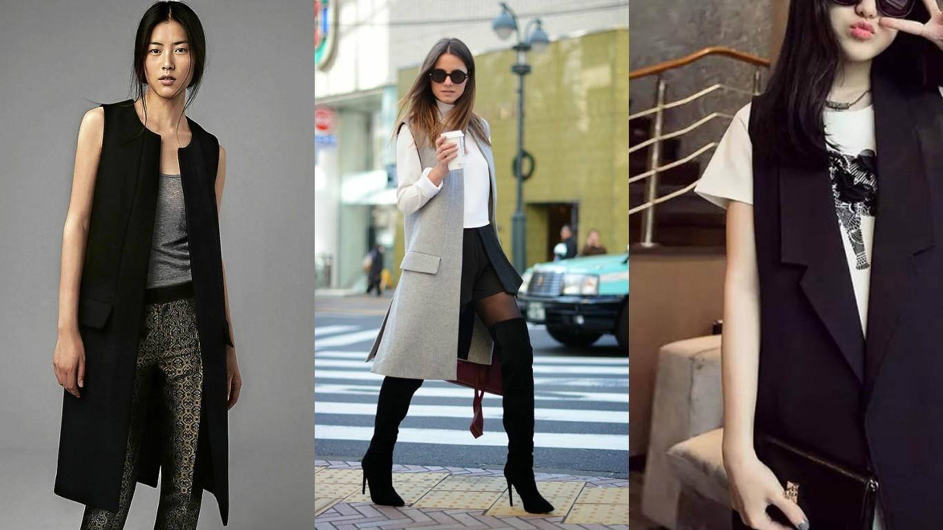 На фото модные женские жилеты для весны 2016