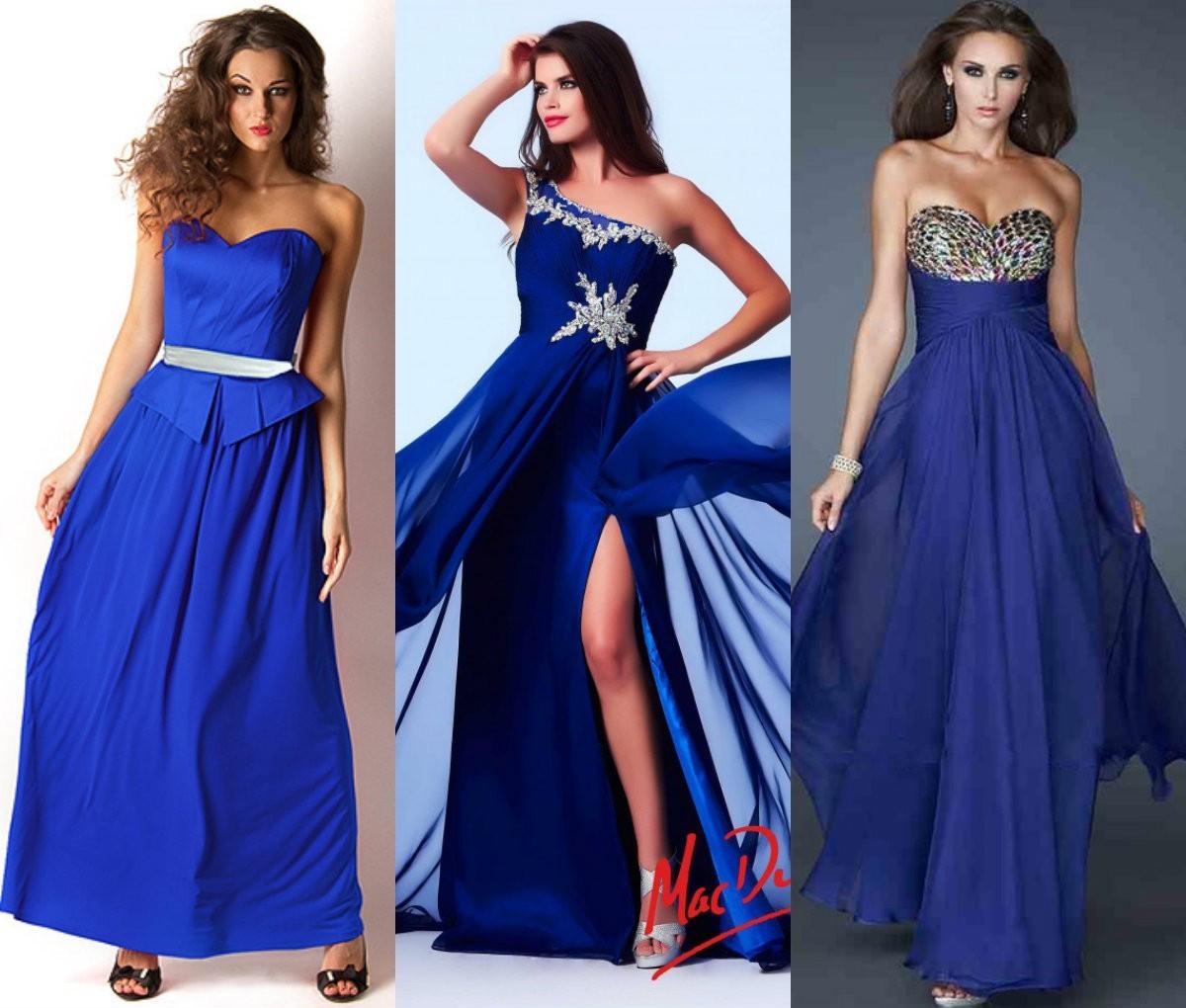 Выпускное платье цвета индиго