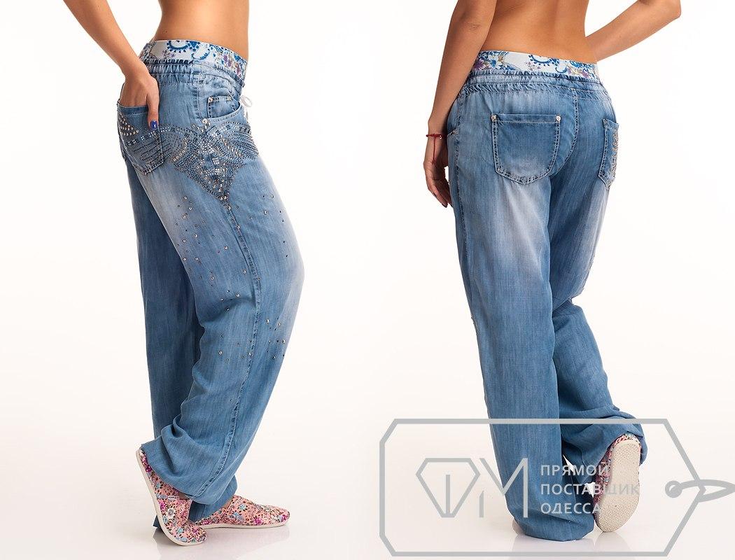 Фото женские шаровары джинсовые
