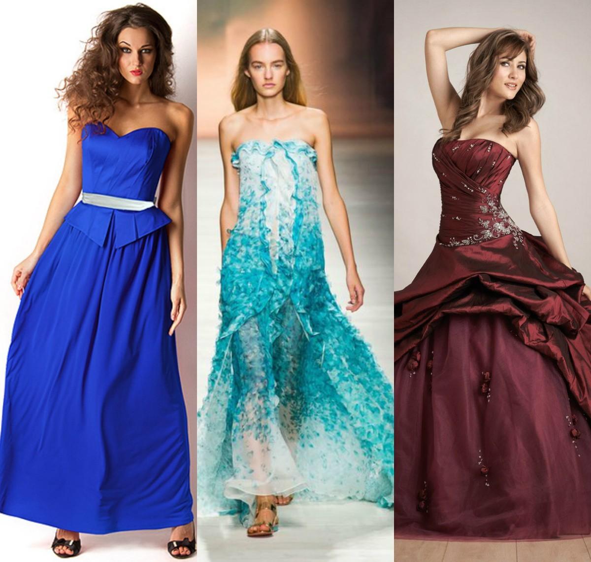Платье для выпускного модного цвета