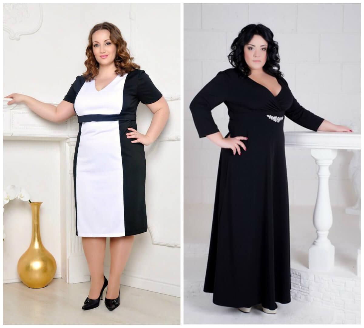 Модели платьев для полных женщин с завышенной талией