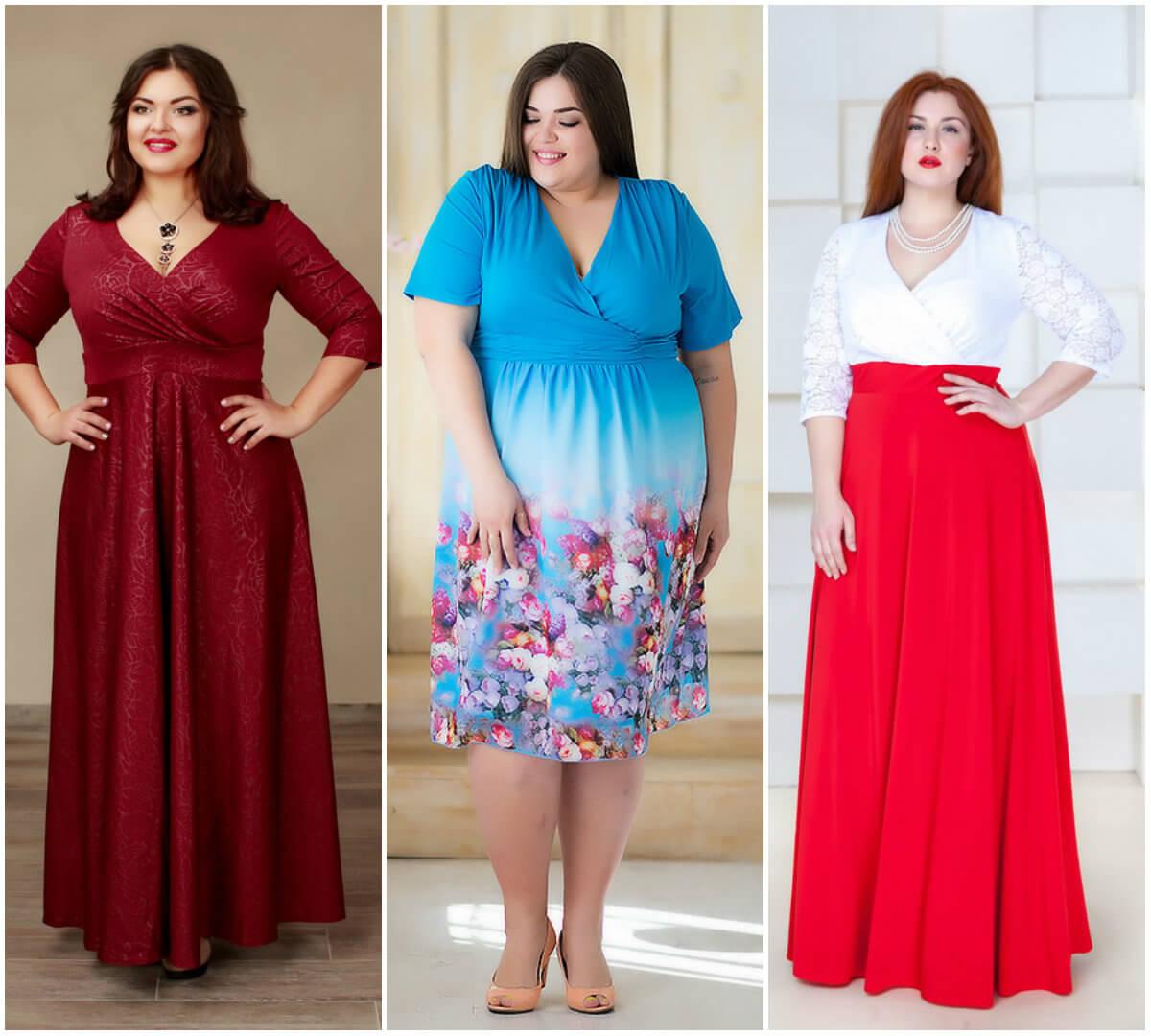 Какой фасон платья подходит полным