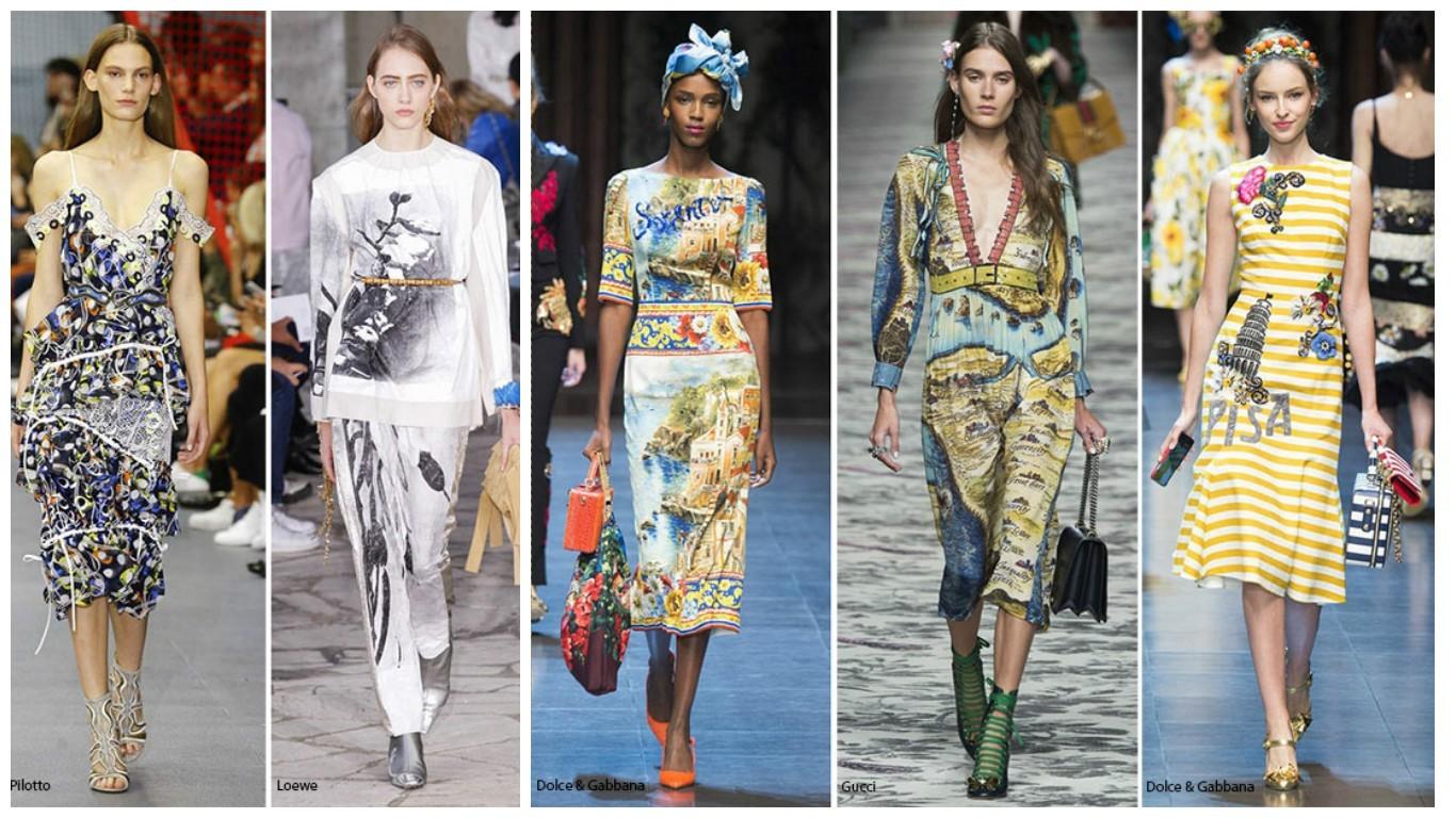 абстракционный, гографический принт мода 2017-2018