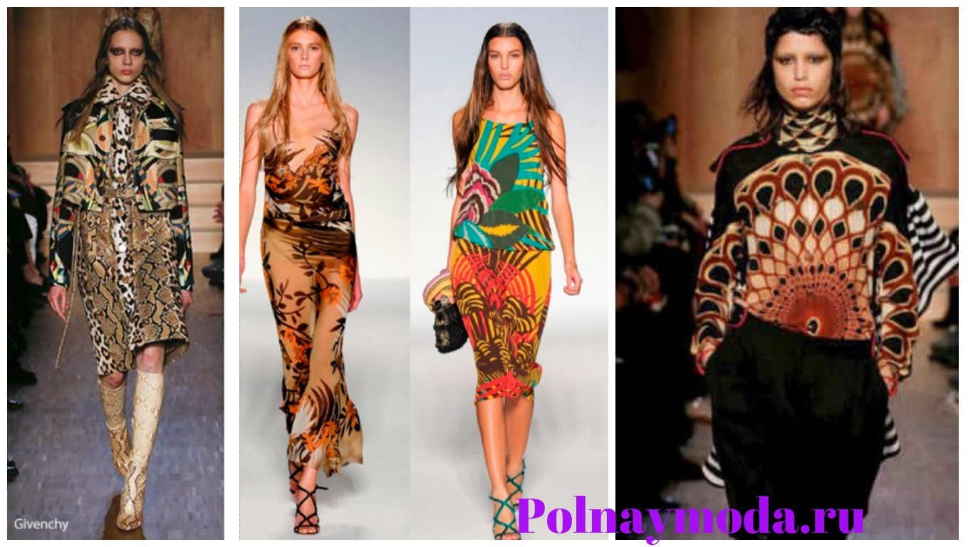 модный принт, экзотический принт, тропический принт, платья с экзотическим принтом