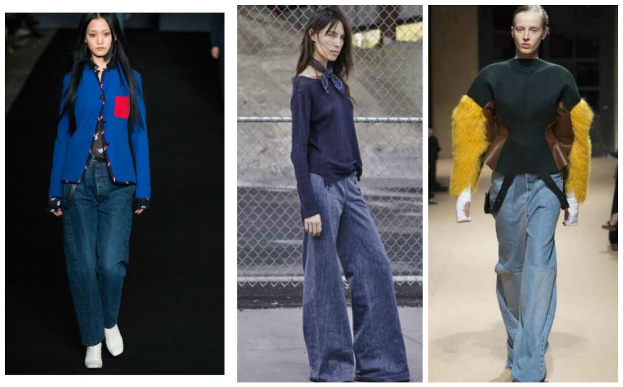 фото модных джинс 2017, 2018, стиль оверсайз