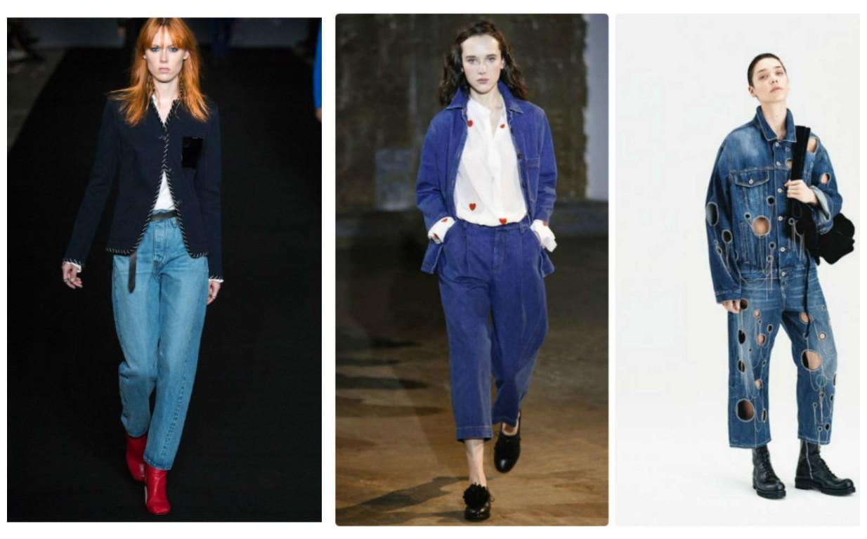 женские джинсы оверсайз, мода 2017-2018, весна лето