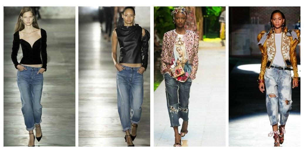 модные тенденции джинсы женские 2017-2018, мода весна лето