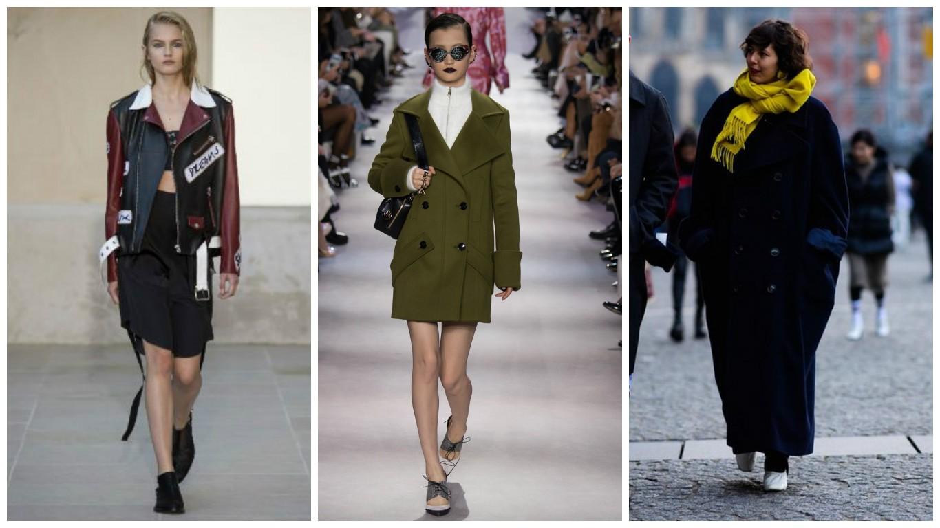 модные короткие пальто, пальто в стиле оверсайз, куртки косухи с большими пуговицами, уличная мода весна 2017