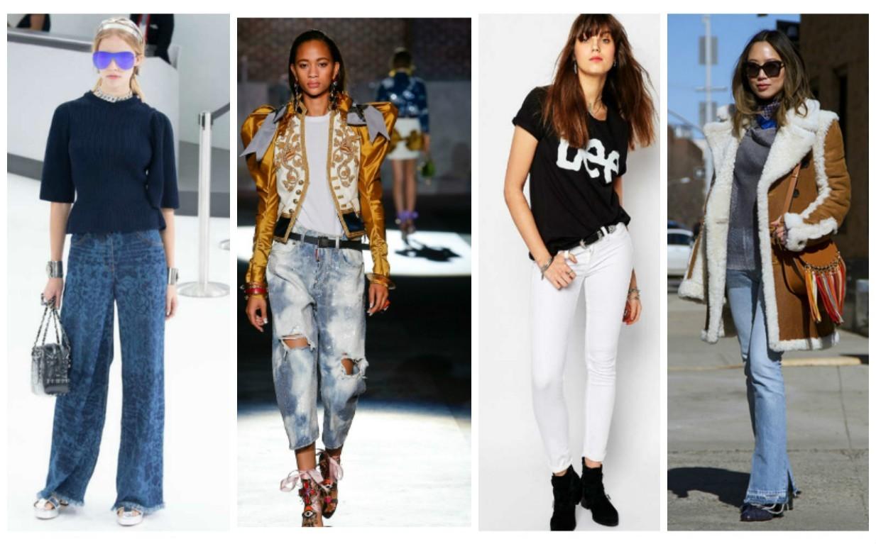универсальные женские джинсы, мода весна лето 2017-2018