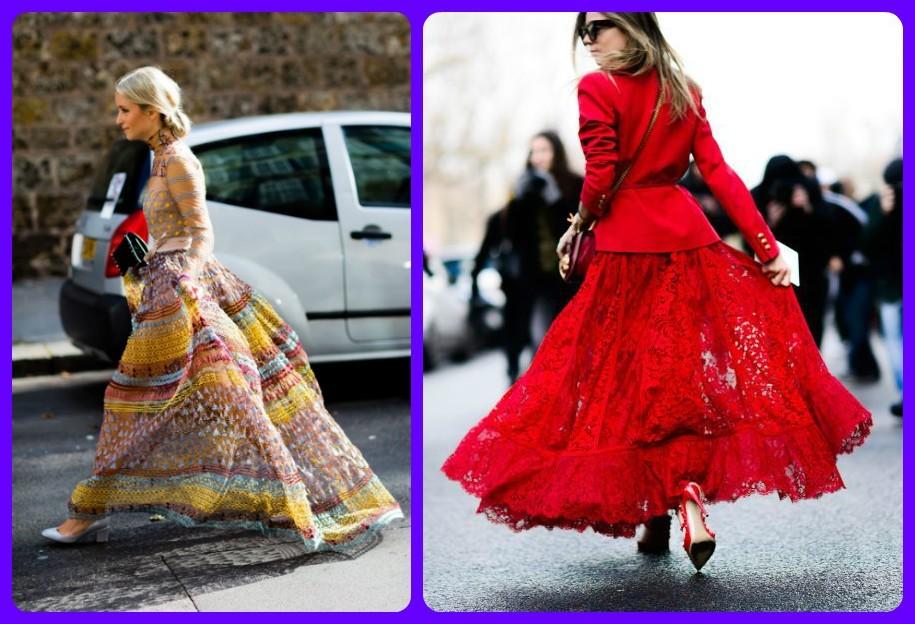 пышные воздушные юбки, мода Парижа, 2017-2018