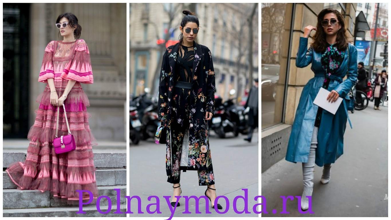 мода Парижа, модные пальто, луки весна лето 2017-2018