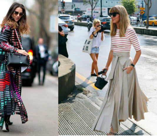 что носятв Еропе весной летом 2017-2018, уличная мода Парижа, Милана, НьюЙорка