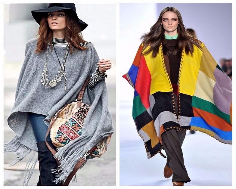 какие пончо модные в 2018