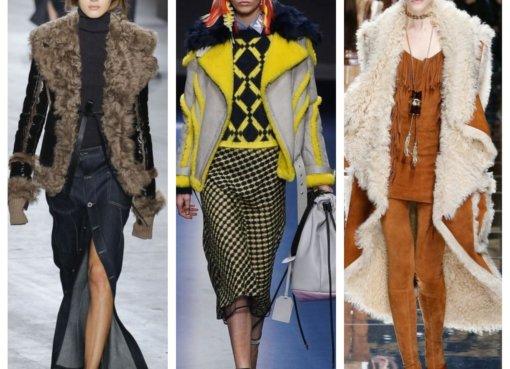 модные дубленки 2018