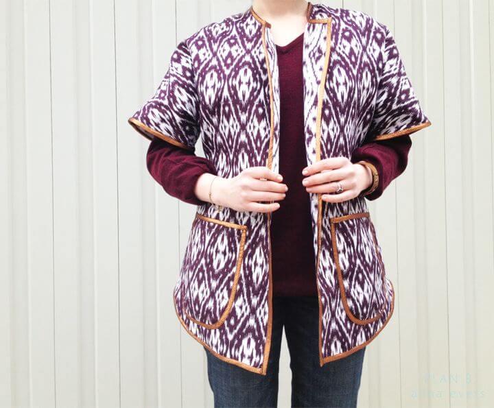 модное простое пончо пальто