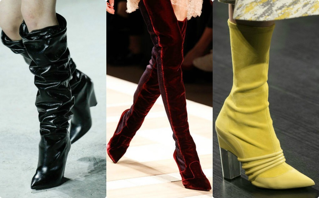 модная лакированная, замшевая обувь, сапоги мода 2018 2019,