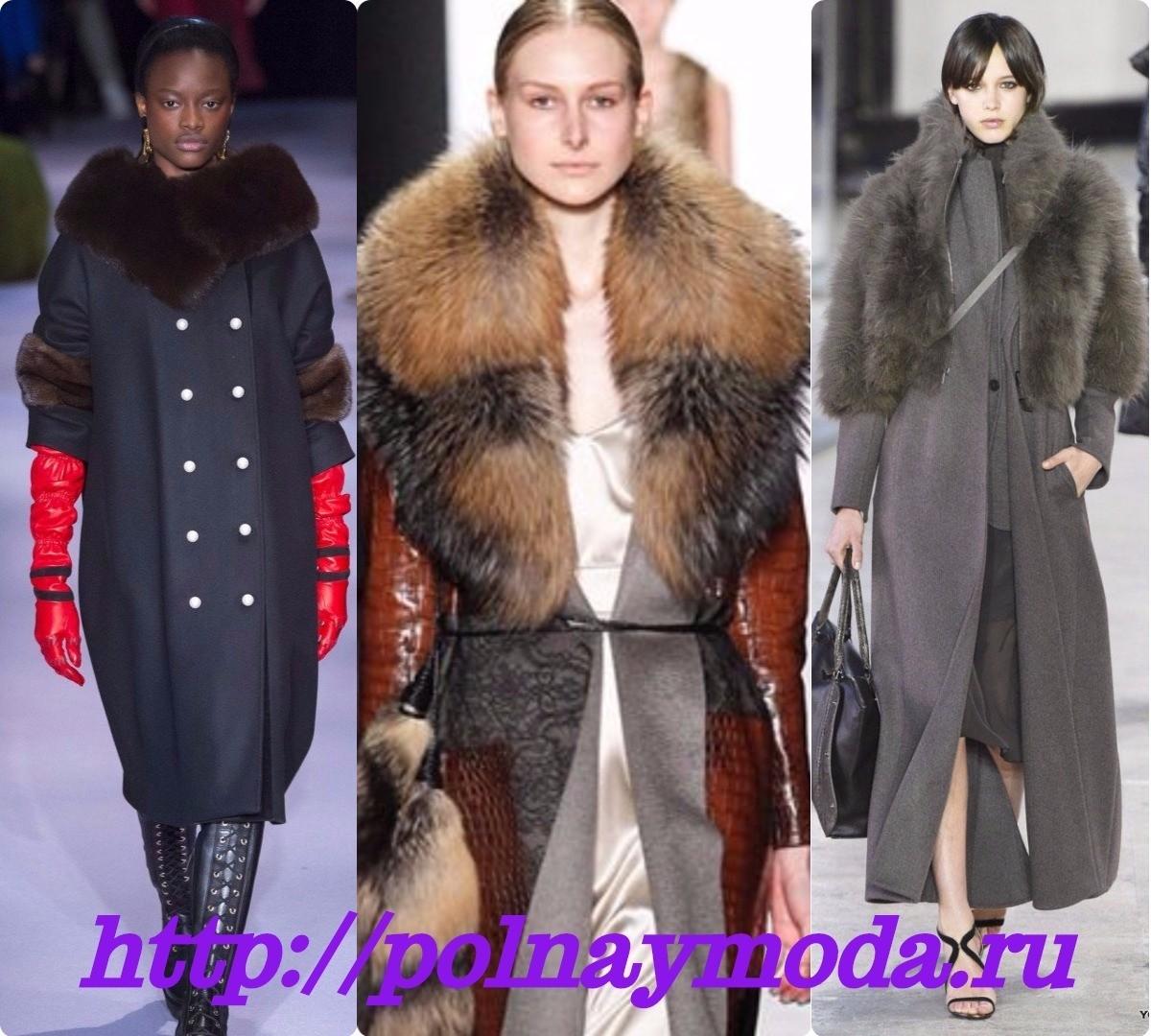 модное пальто для зимы с воротником, меховая отделка модная,