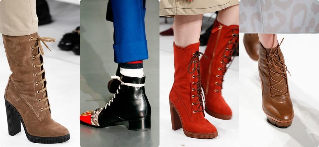 модная обувь 2018 фото женская, сапоги полусапожки ботинки на шнуровке женская обувь