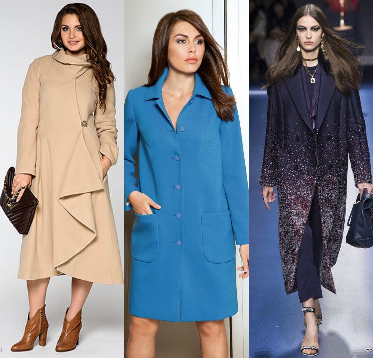Женское пальто асимметричного и прямого кроя для фигуры прямоугольник, для фигуры яблоко