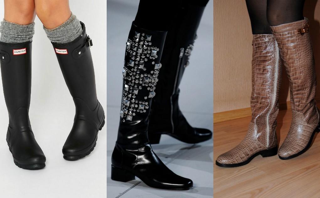 модные сапоги зима 2018, сапоги женские на низком каблуке