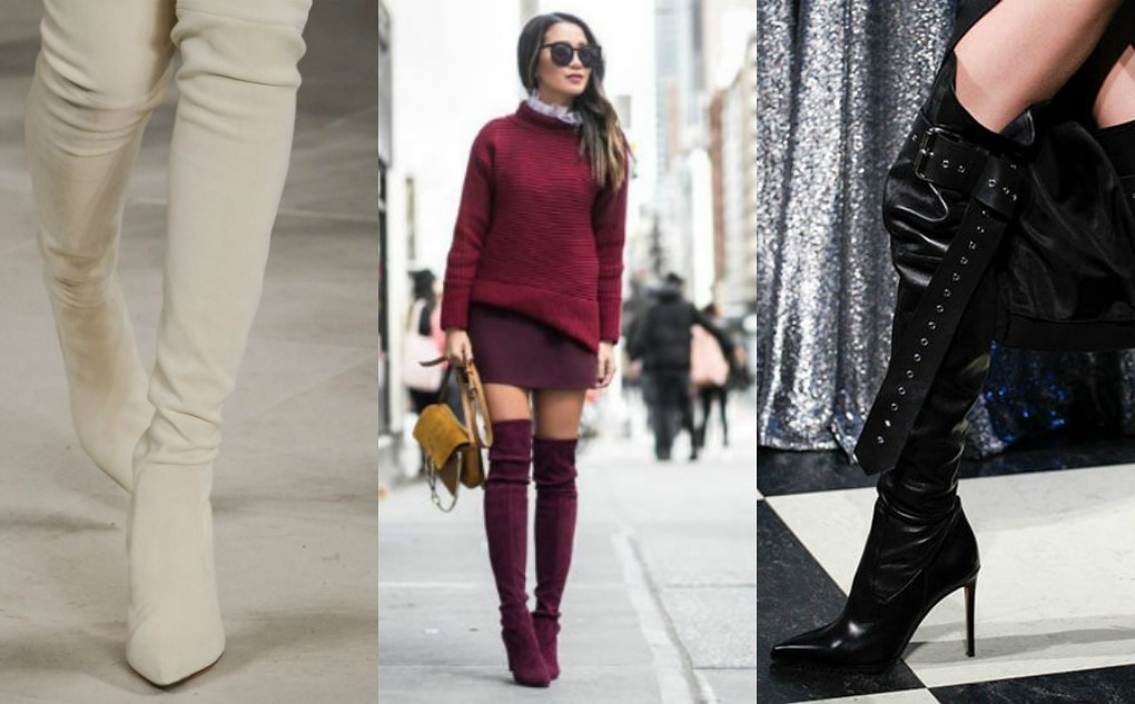 женские зимние сапоги чулки, ботфорты, на каблуке