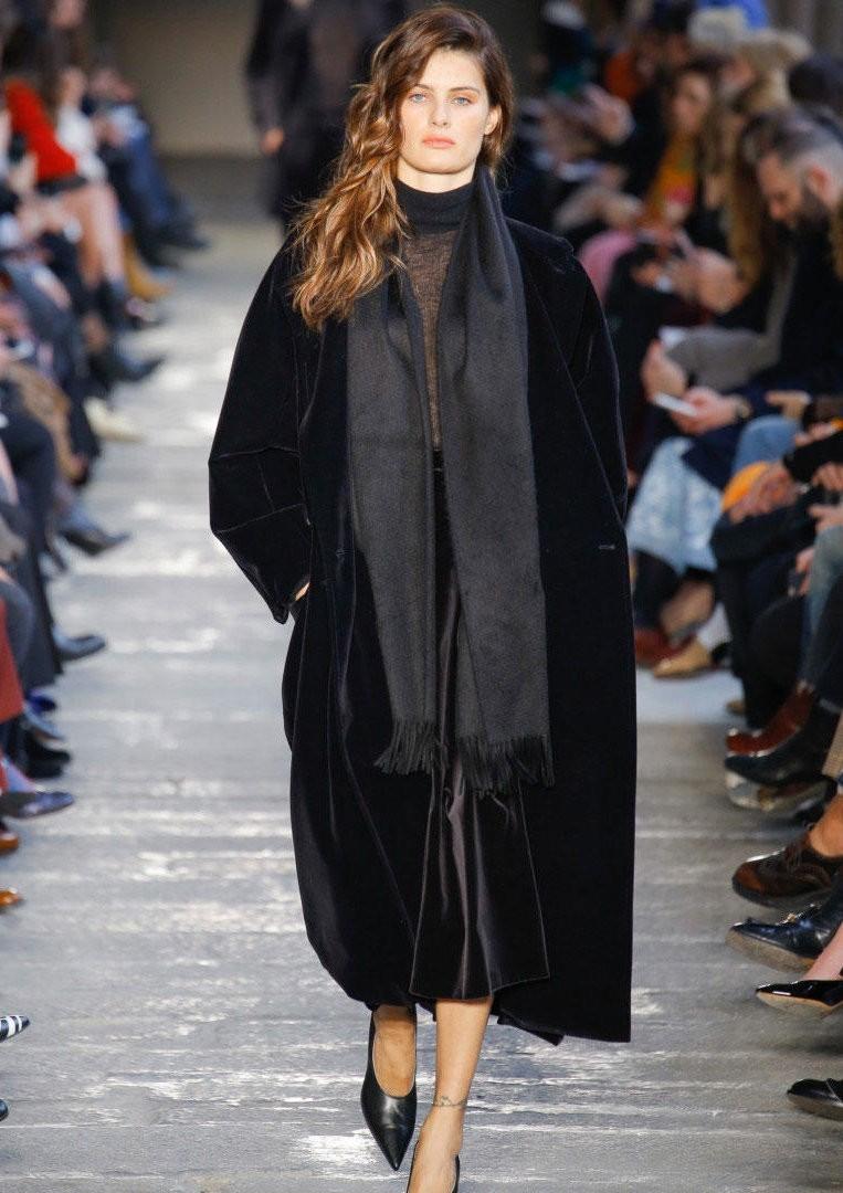 пальто из бархата для женщины, осень зима