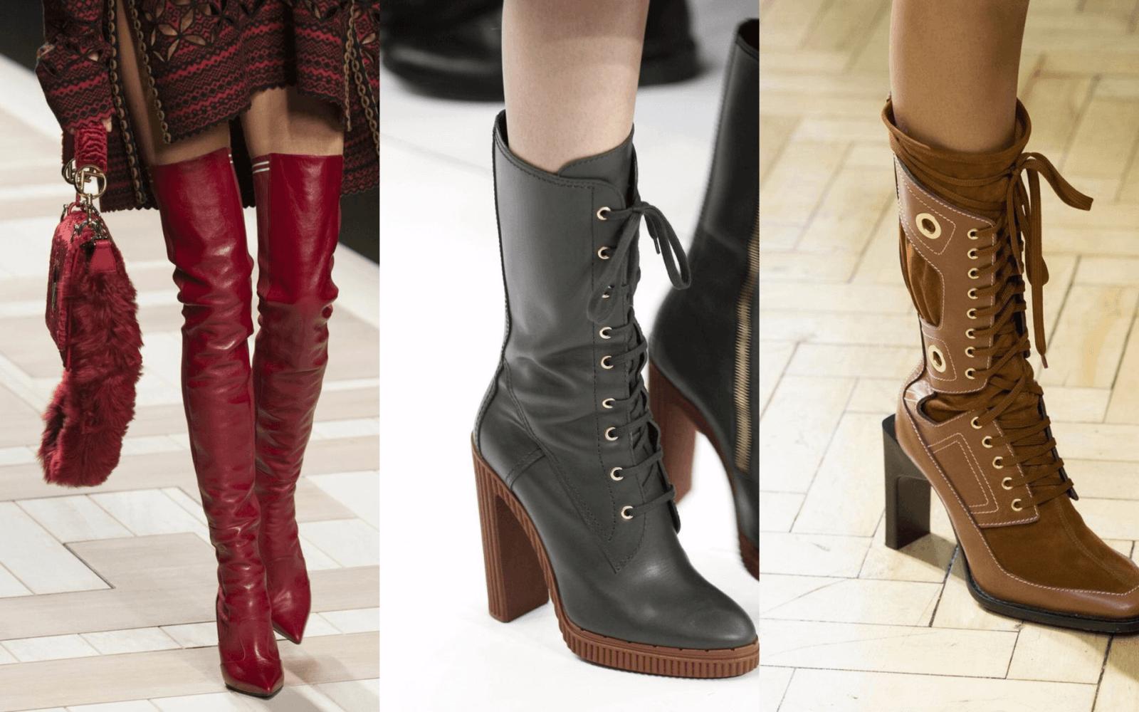 модная осень 2018 2019, осенняя женская обувная мода,