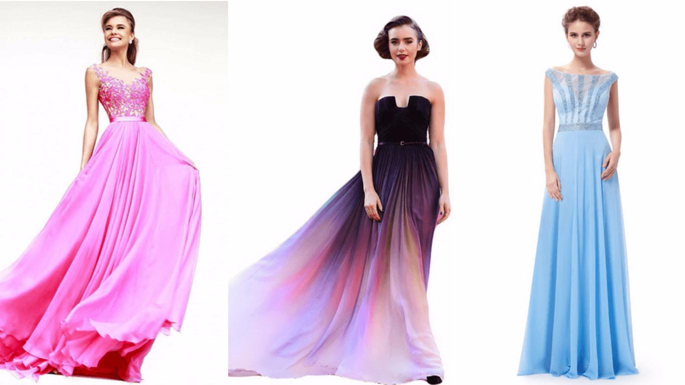длинные платья в пол, а-силуэт, сиреневые, голубые, розовые для вечеринок