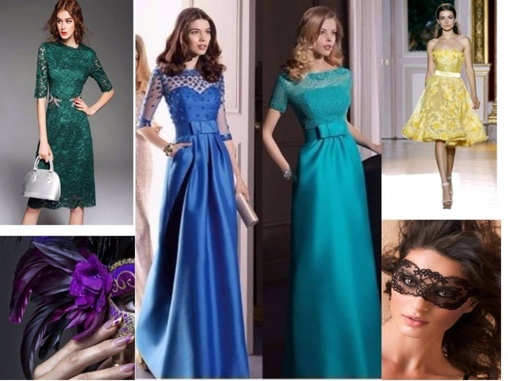 голубые, синие, зеленые, желтые платья для женщин Раков по гороскопу