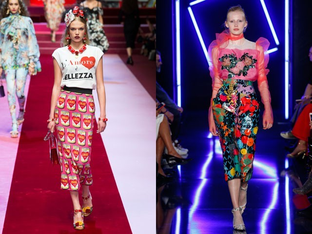 модные юбки-карандаш весна лето 2018