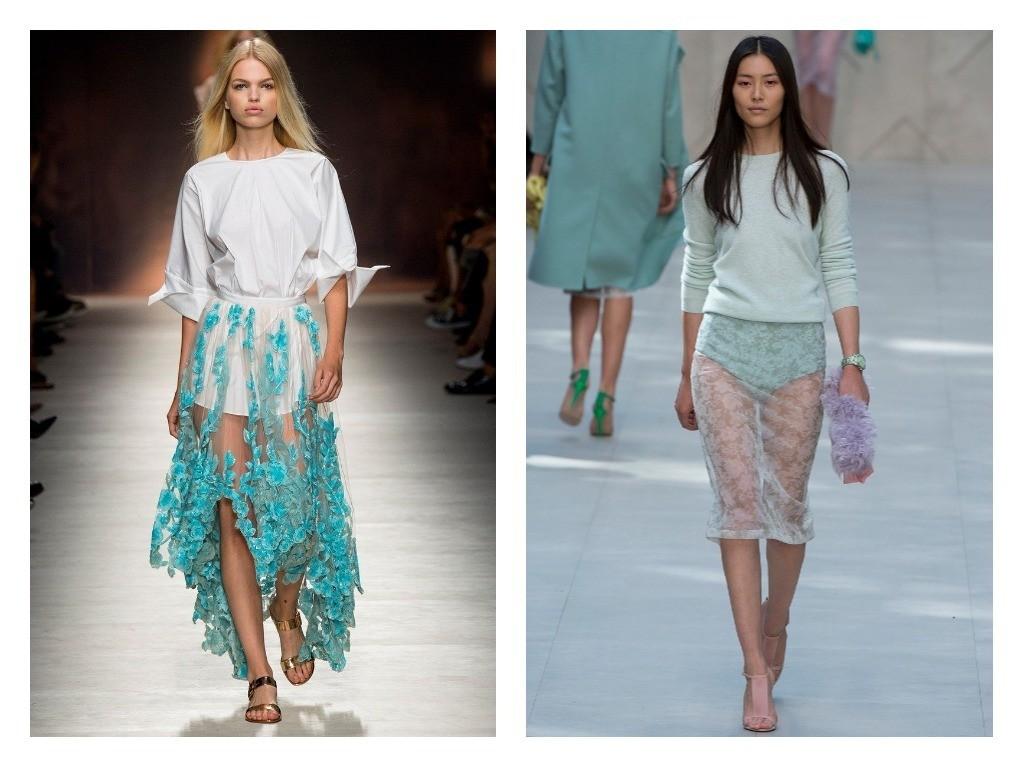 модные прозрачные юбки весна лето 2018