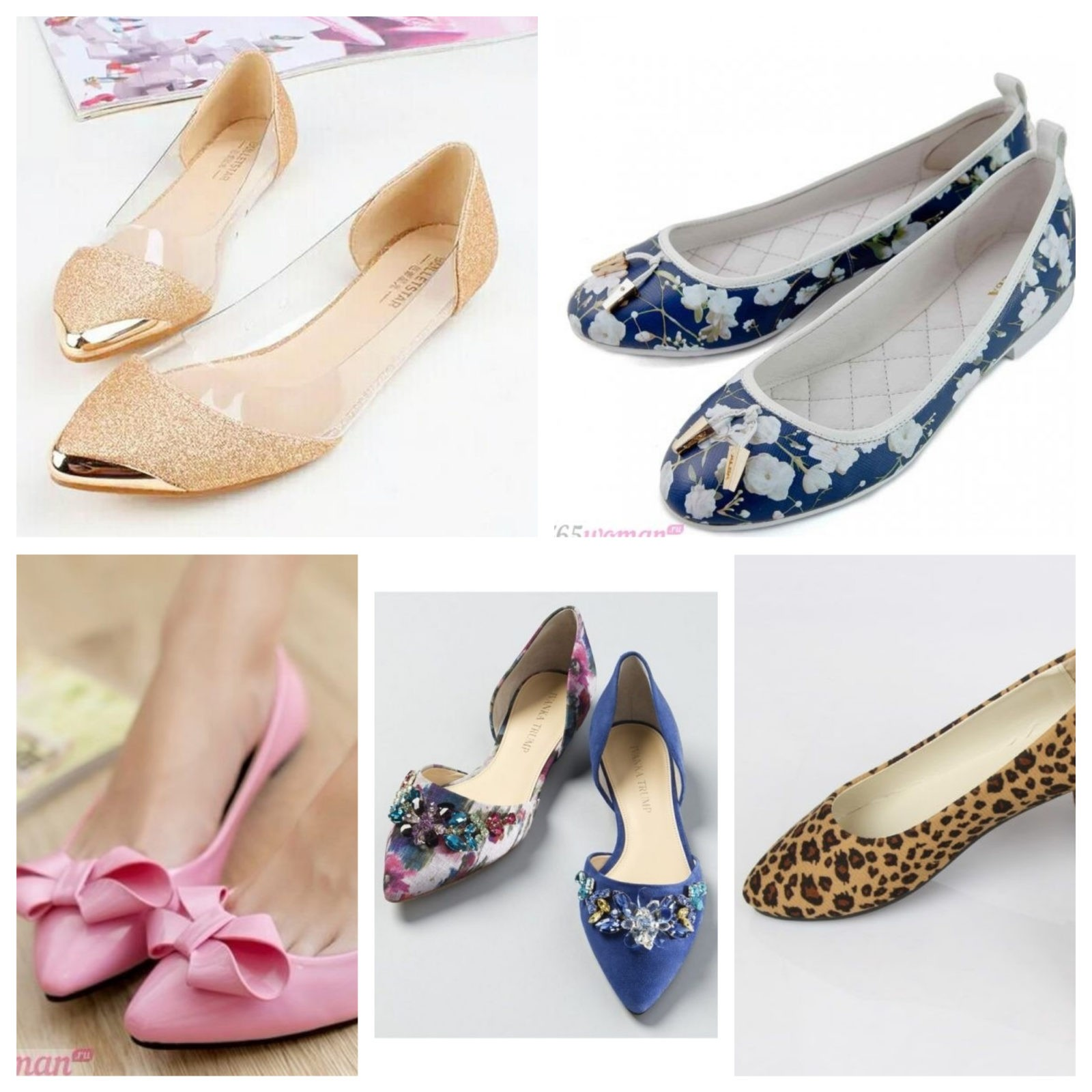балетки синие розовые леопардовые бежевые с блестками бантиками
