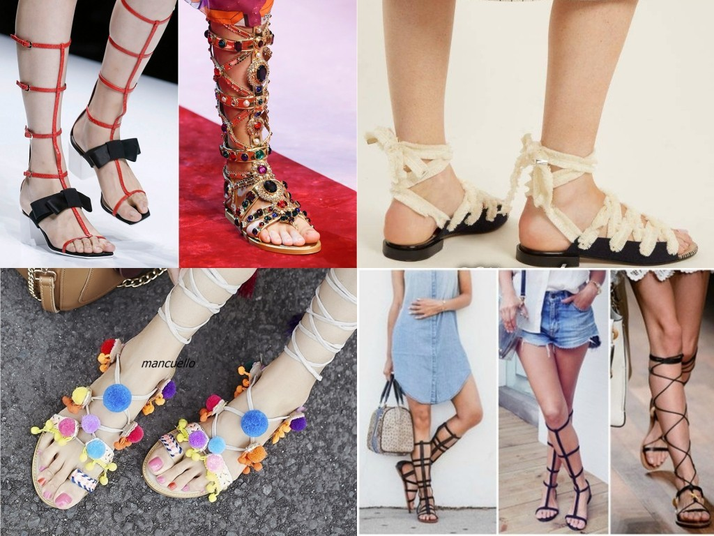 сандалии на плоской подошве со шнуровкой камнями пайетками  2018 2019
