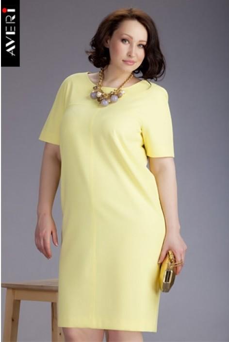 """Лимонно-желтое платье для женщин с фигурой """"груша"""""""