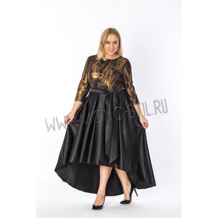 "платье ""Кармен"" большого размера для женщин"