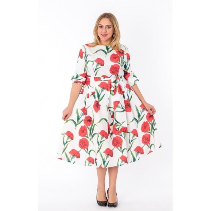 платье в цветочек 2016