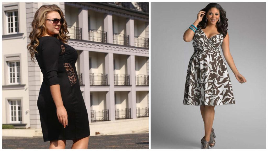 платье для полной девушки, как выбрать платье для фигуры песочные часы, платье для пышки 2017, 2018