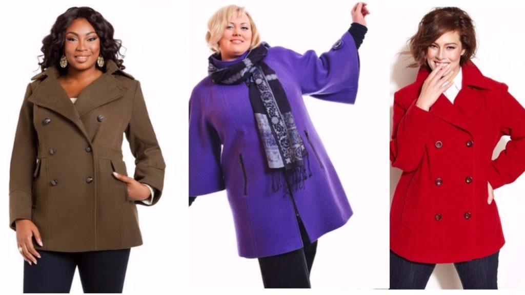 Модные пальто для полных женщин, мода весны
