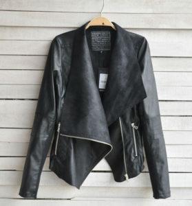 на фото: правильная сушка куртки из экокожи