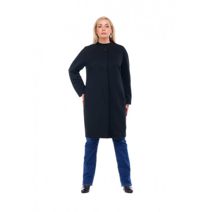 Пальто из жаккардового полотна прямого кроя, свободного стиля