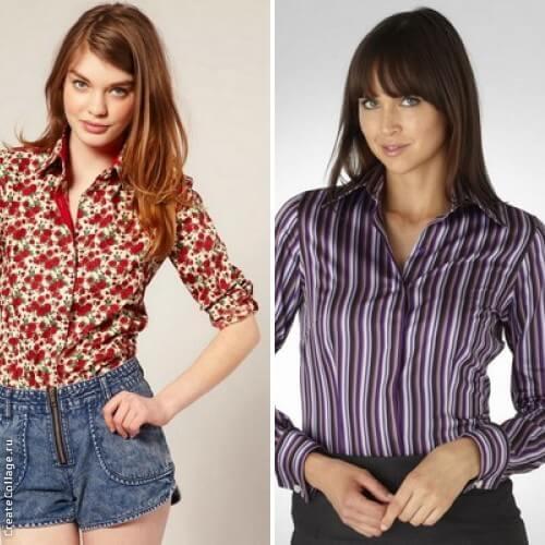 Рубашки с принтом и в полоску на весну 2016