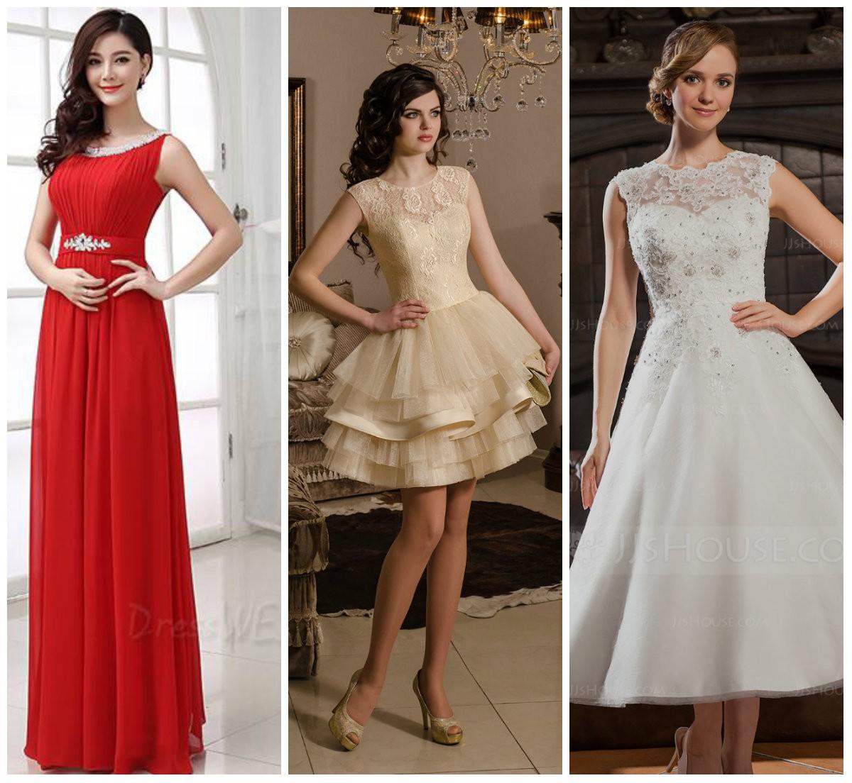 длинные и короткие платья для праздника