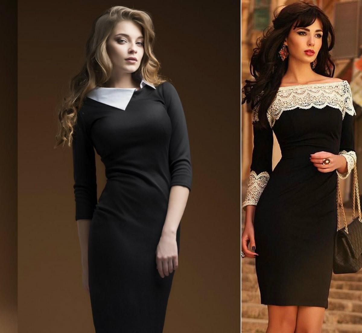 Черное маленькое платье с белыми вставками - безупречный выбор для выпускного