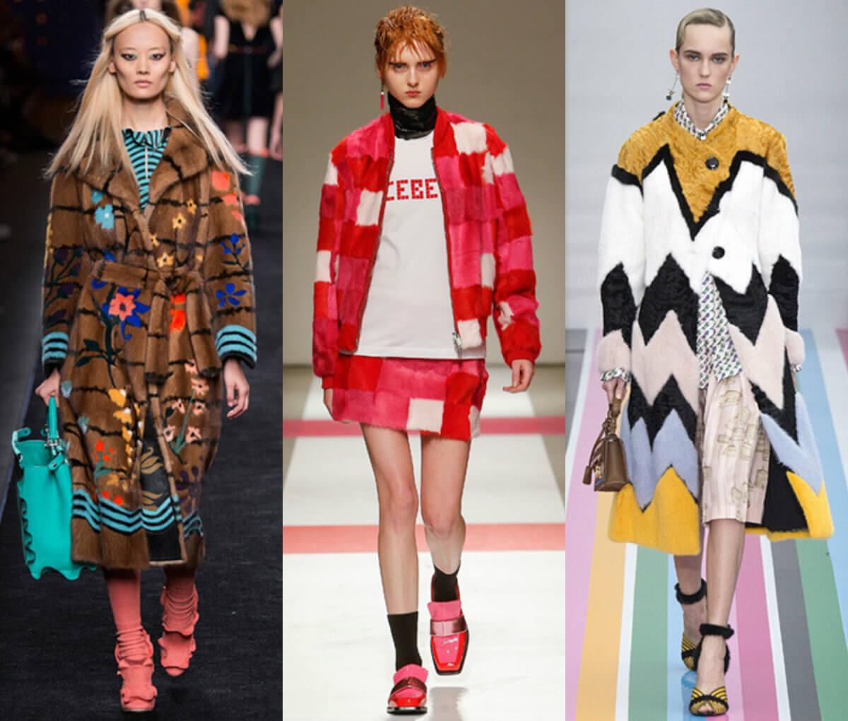 мода осень 2016 одежда с принтованным мехом