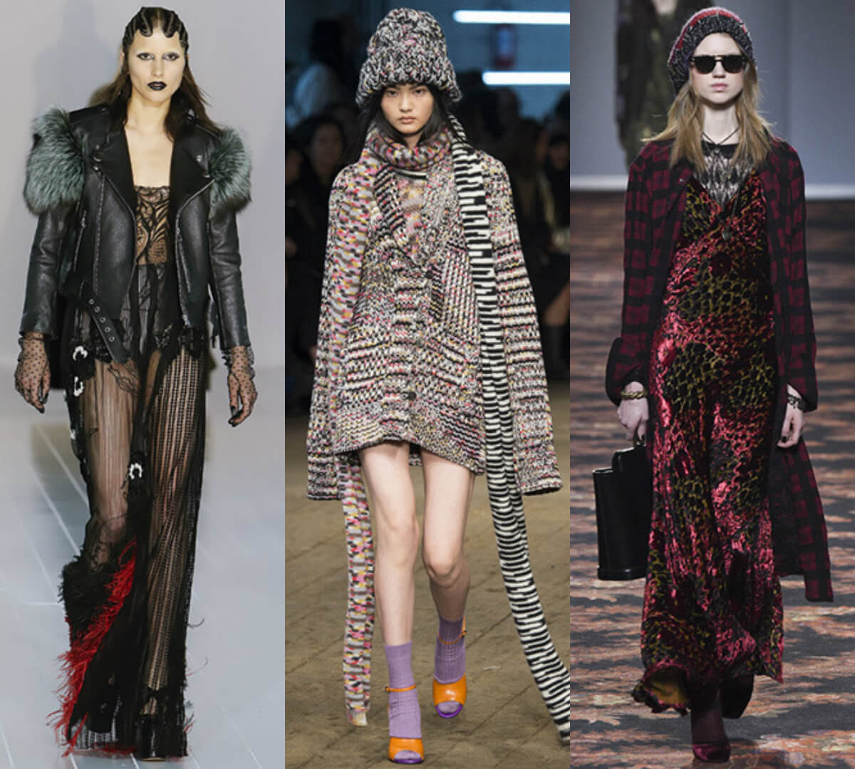 Одежда в стиле гранж мода оень 2017 зима 2017