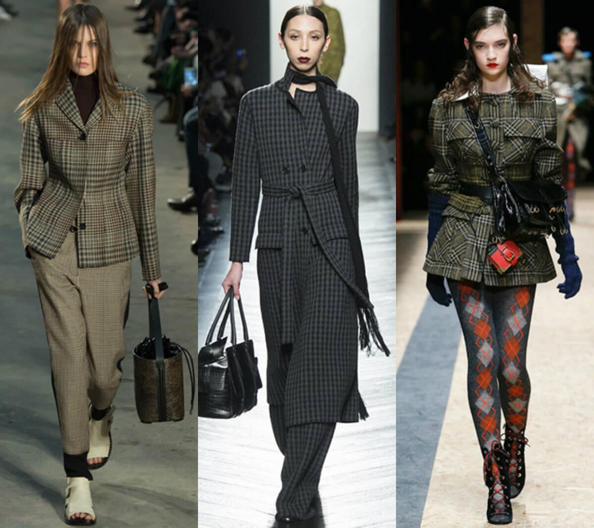Женские костюмы в клетку мода 2016-2017