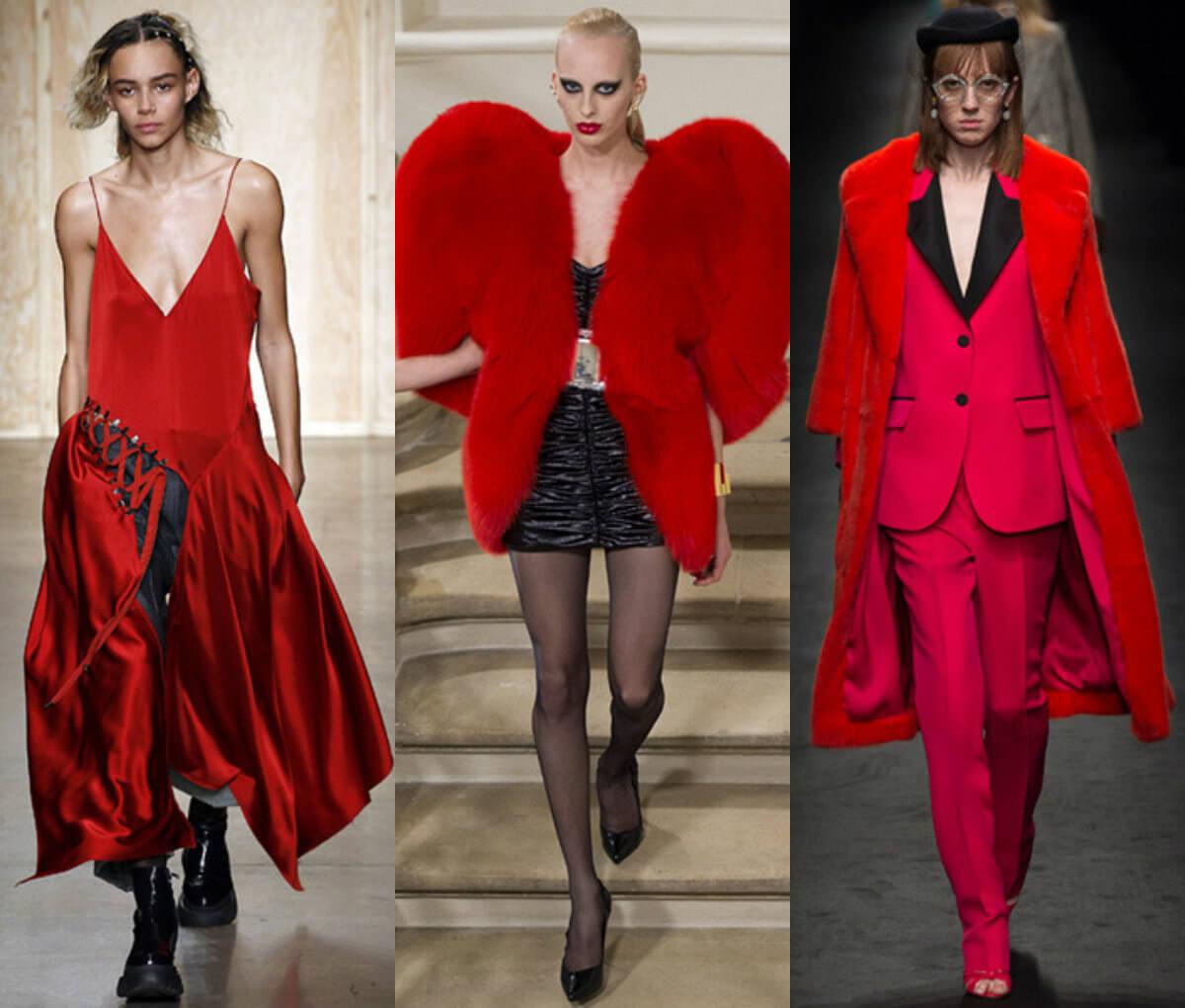 Сочетание красного с черным, мода 2016-2017