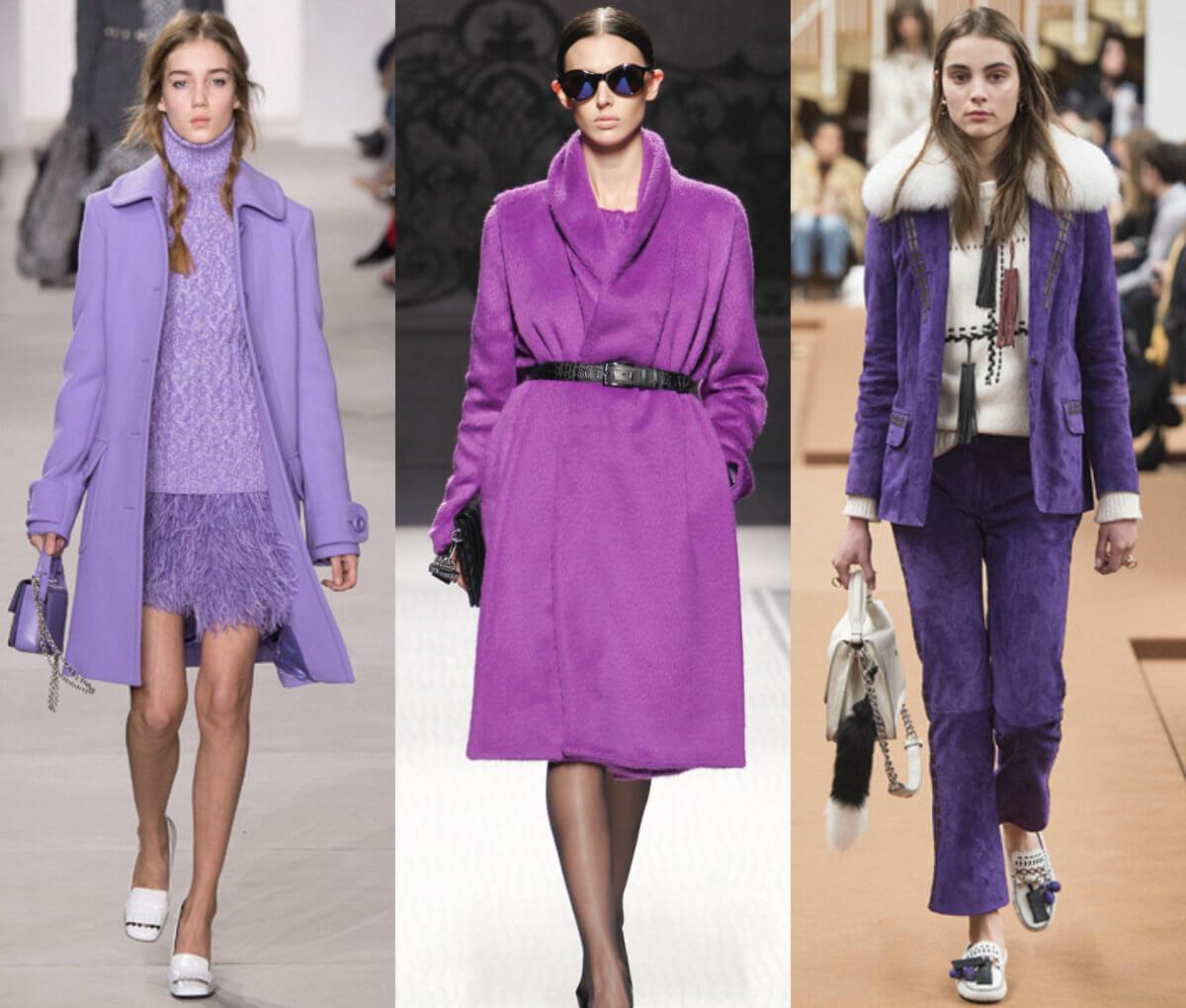 Модная одежда лилового цвета 2016-2017