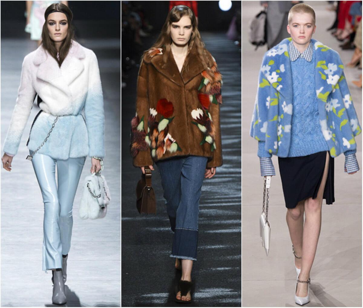 меховая одежда моде осень зима 2016-2017