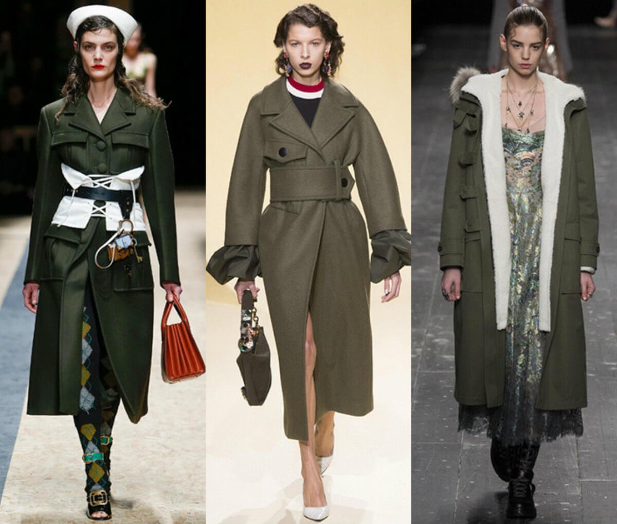милитари модный стиль осень-зима 2016-2017
